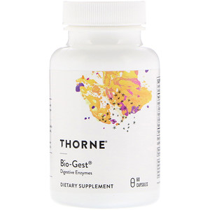 Thorne Bio-Gest - Is an HCL+ pepsin supplement.Betaine HCL & Pepsin promotes optimal stomach acidity, protein digestion, and enzyme activity.