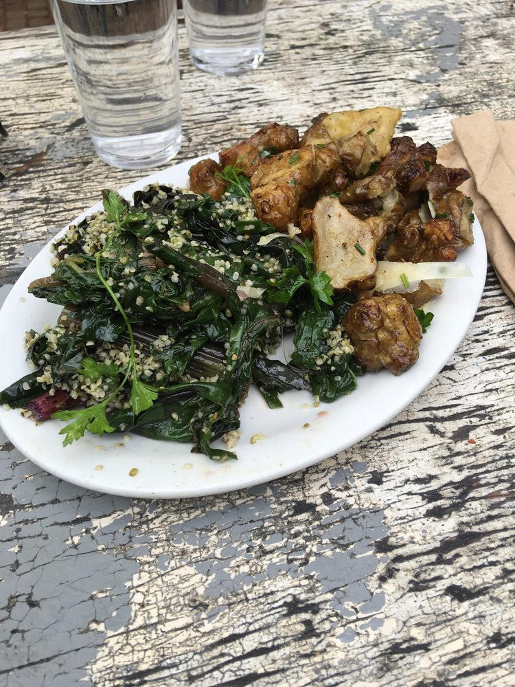 Sunchokes and chard greens