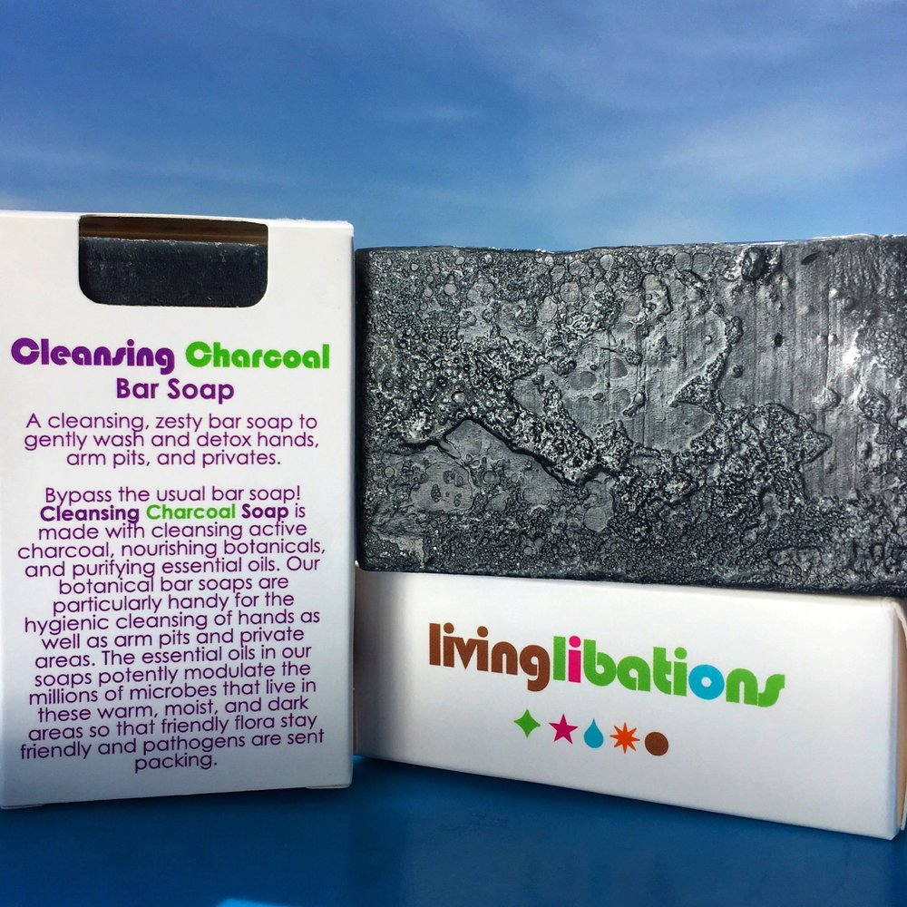 Opt for a natural soap like  Living Libations  charcoal to use on your pits, but avoid scrubbing down your whole body every time you shower.