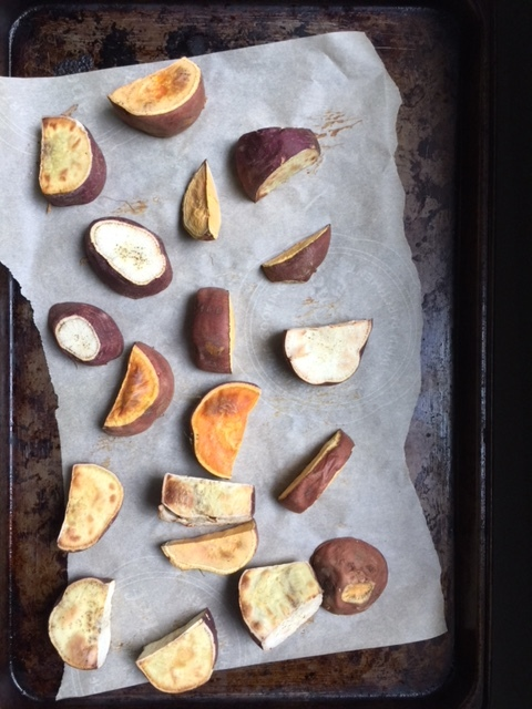 Pre-baking the sweet potatoes is the key to deliciously sweet, healthy, brownies.