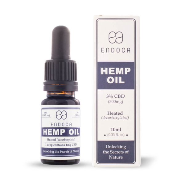 Hemp Oil Drops 300mg CBD - (Cannabidiol) (3%)Use code: BecomingFullyHuman for a discount on all Endoca orders.