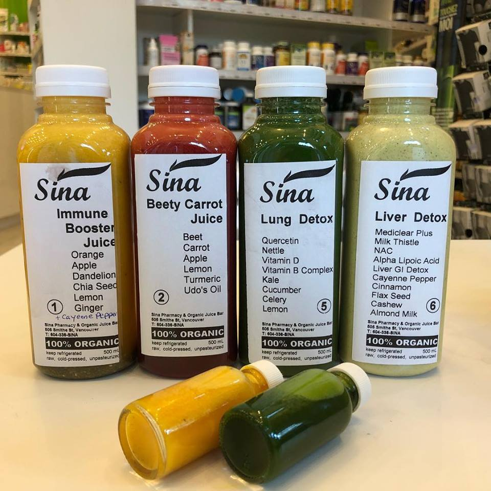 Sina pharmacy and juice bar.