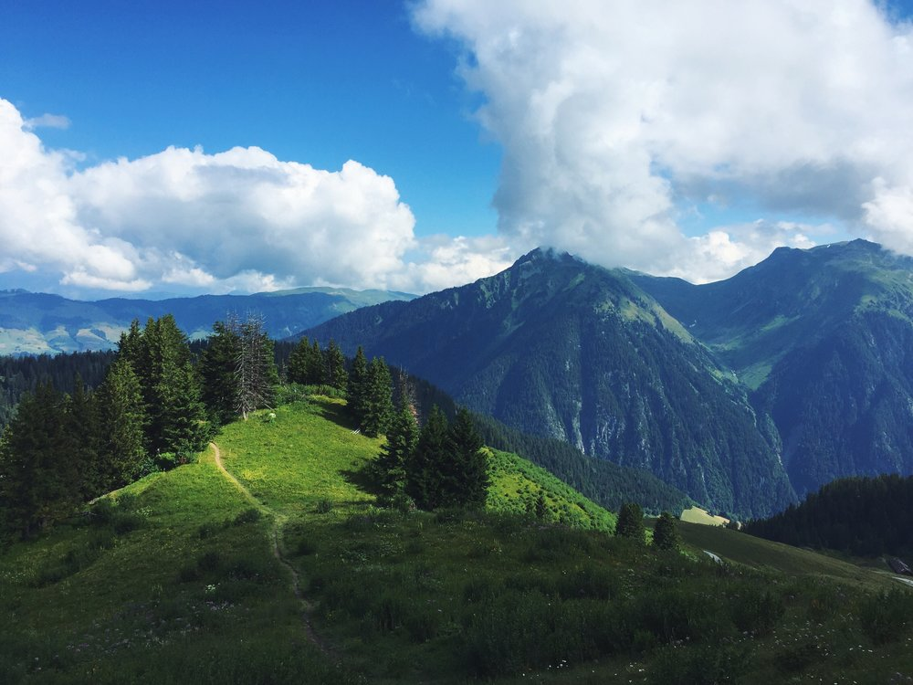 Hiking in the French Alps.