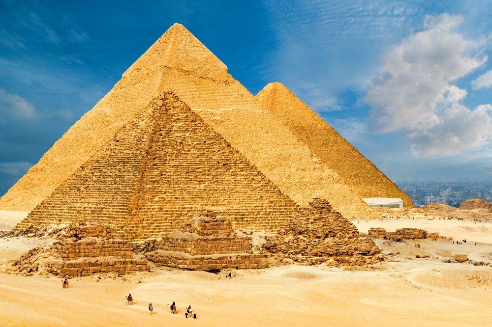 Gyza Pyramids, Cairo, Egypt.