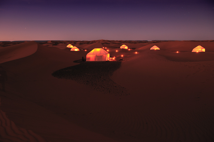 Camping in the Sahara Desert, Morocco