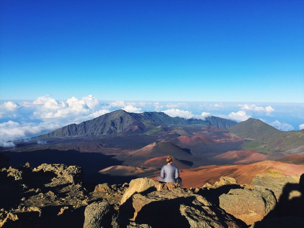 Meditating on top of the Haleakala Volcano crater is most definitely tapping into the parasympathetic.