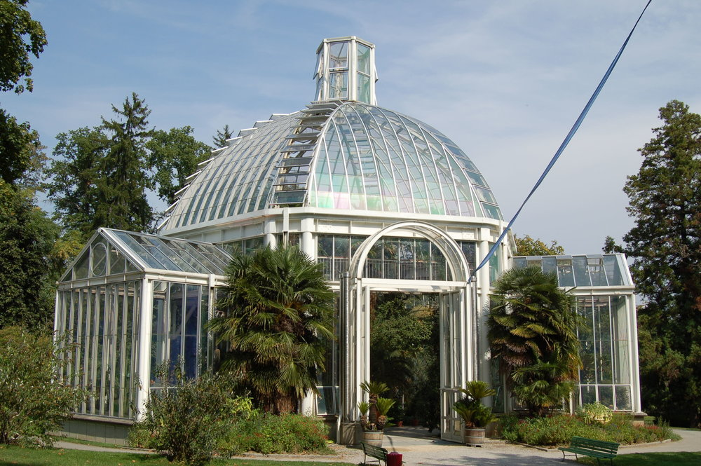 Greenhouse at the Botanical Gardens, Geneva.