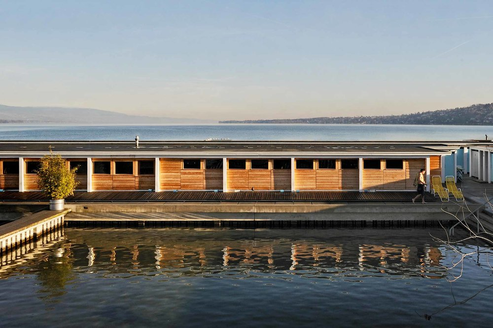 Sauna at Bains des Pâquis, Geneva.