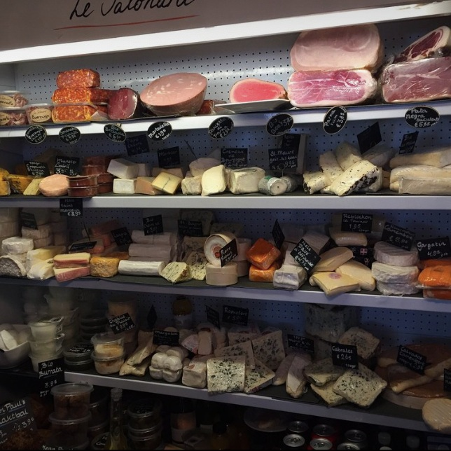 Meat and cheeses at Le Salonard.