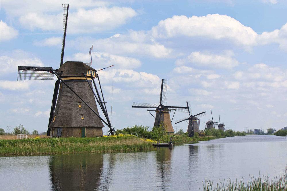 Windmills at Kinderdijk.