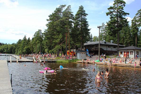 Kuusijärvi in the summertime.
