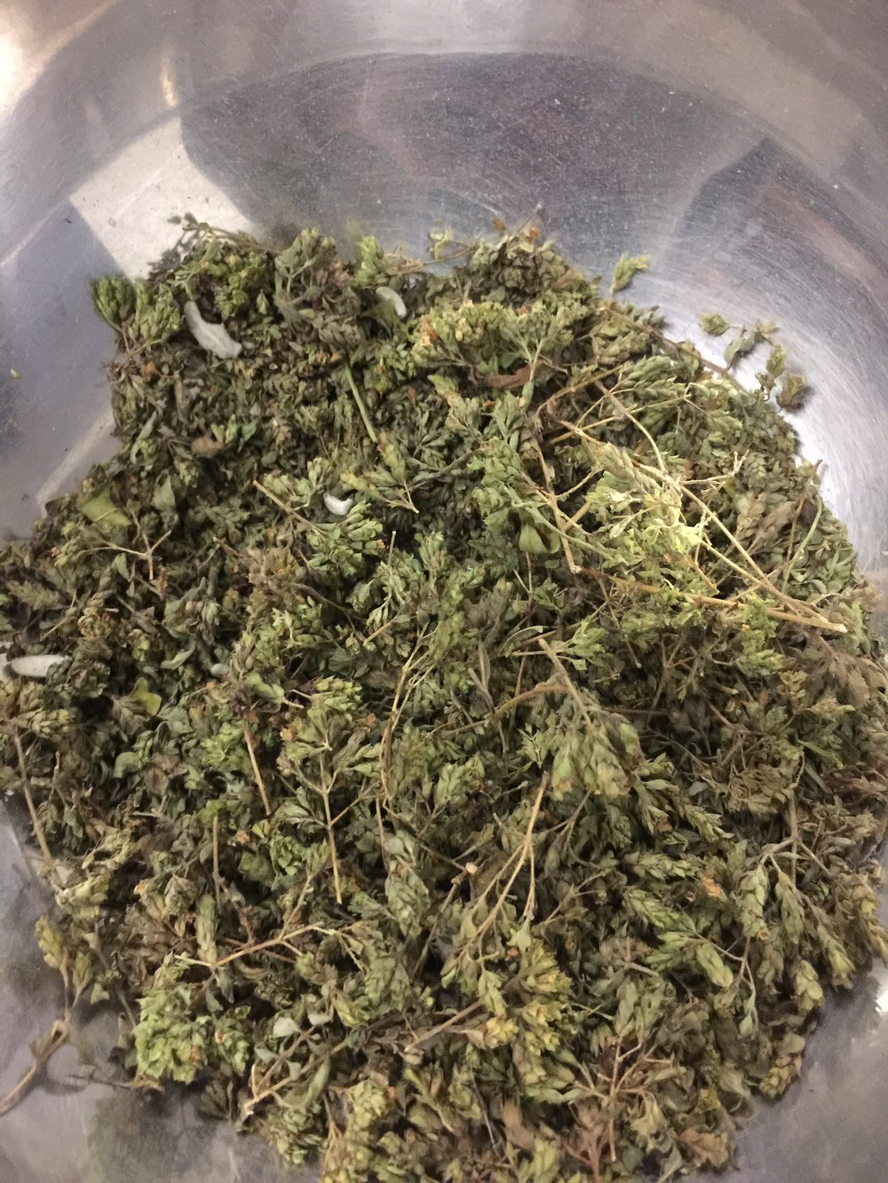 Wild oregano and wild thyme, from the hills of Crete.