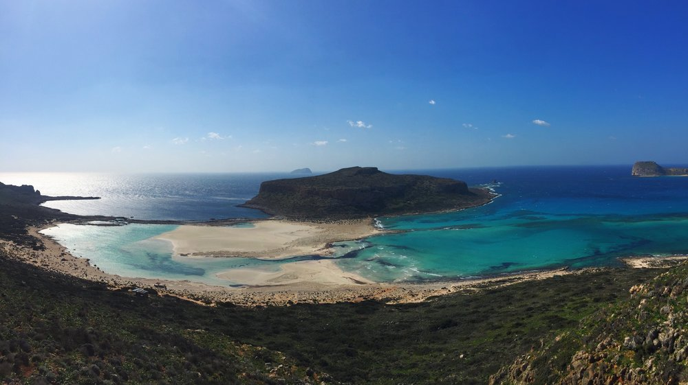 Balos beach in the West of Crete, where fields of wild thyme make for incredible and medicinal thyme honey, pollen, propolis, and royal jelly!