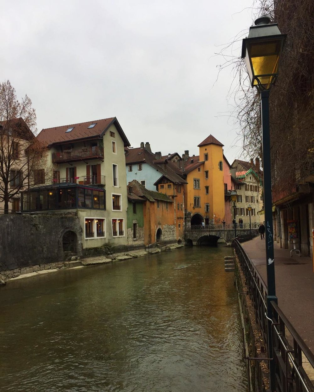 Exploring the canals of Annecy, in the Northern Alps of France.