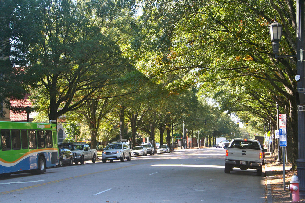 A typical street in Raleigh, NC where this research took place