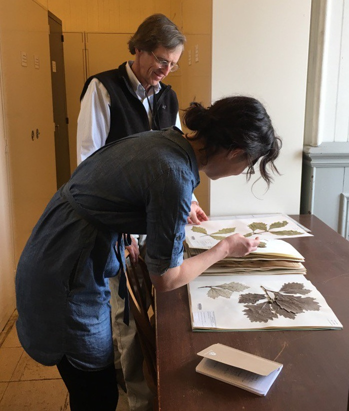 Dave Barrington and I at the University of Vermont Pringle Herbarium
