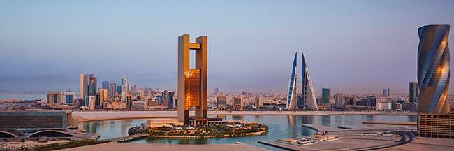 The imposing Four Seasons stands on its own island in Manama