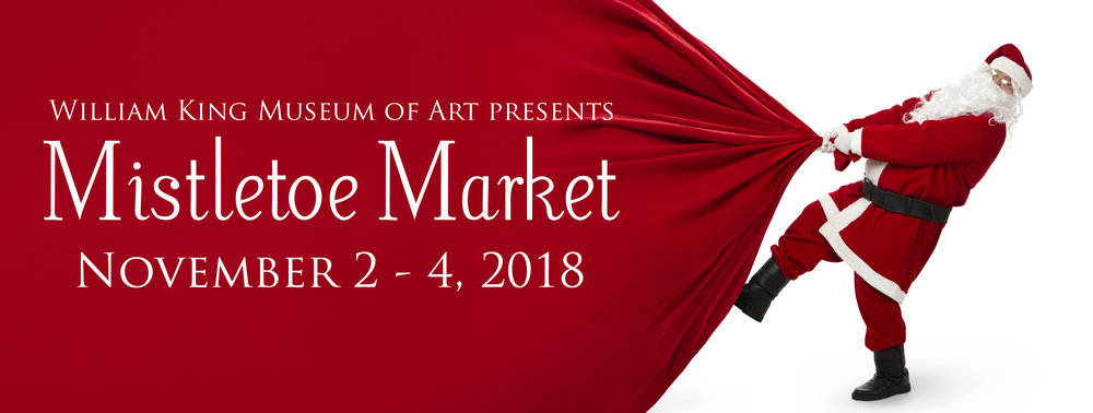 Excited to be a part of the annual MISTLETOE MARKET! The Market opens with the Mistletoe Mingle on Thursday, November, 1 from 6:00 to 9:00 p.m. - http://www.williamkingmuseum.org/mistletoemarket/