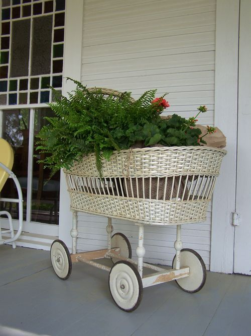 Plant Babies - Do you still have your old strollers? Whether you want to turn them into a terrarium or just use one for your larger plants, they bring a great vintage vibe to any space.