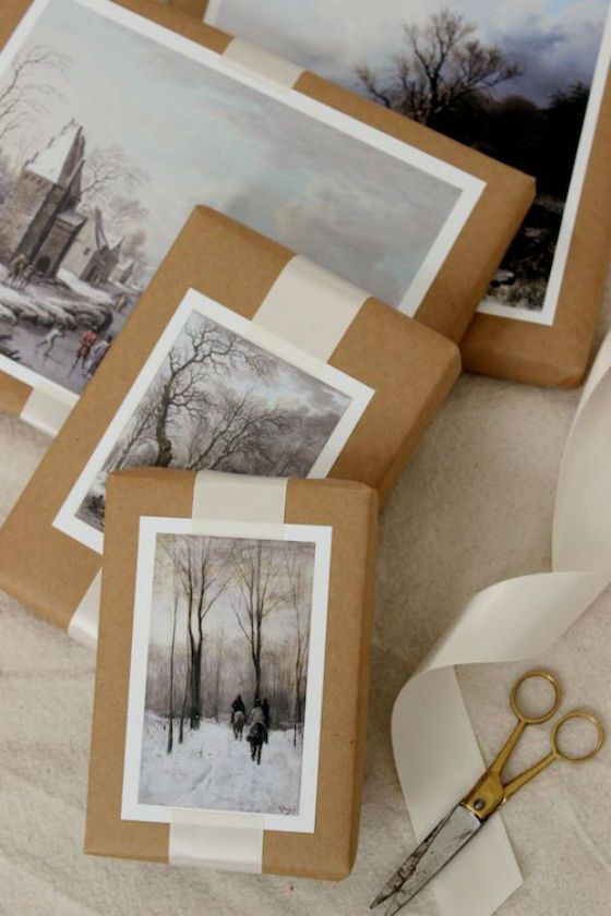 Vintage Photographs - Vintage photos can make for beautiful wrapping! Snowy landscapes are the perfect finds for your gifts.
