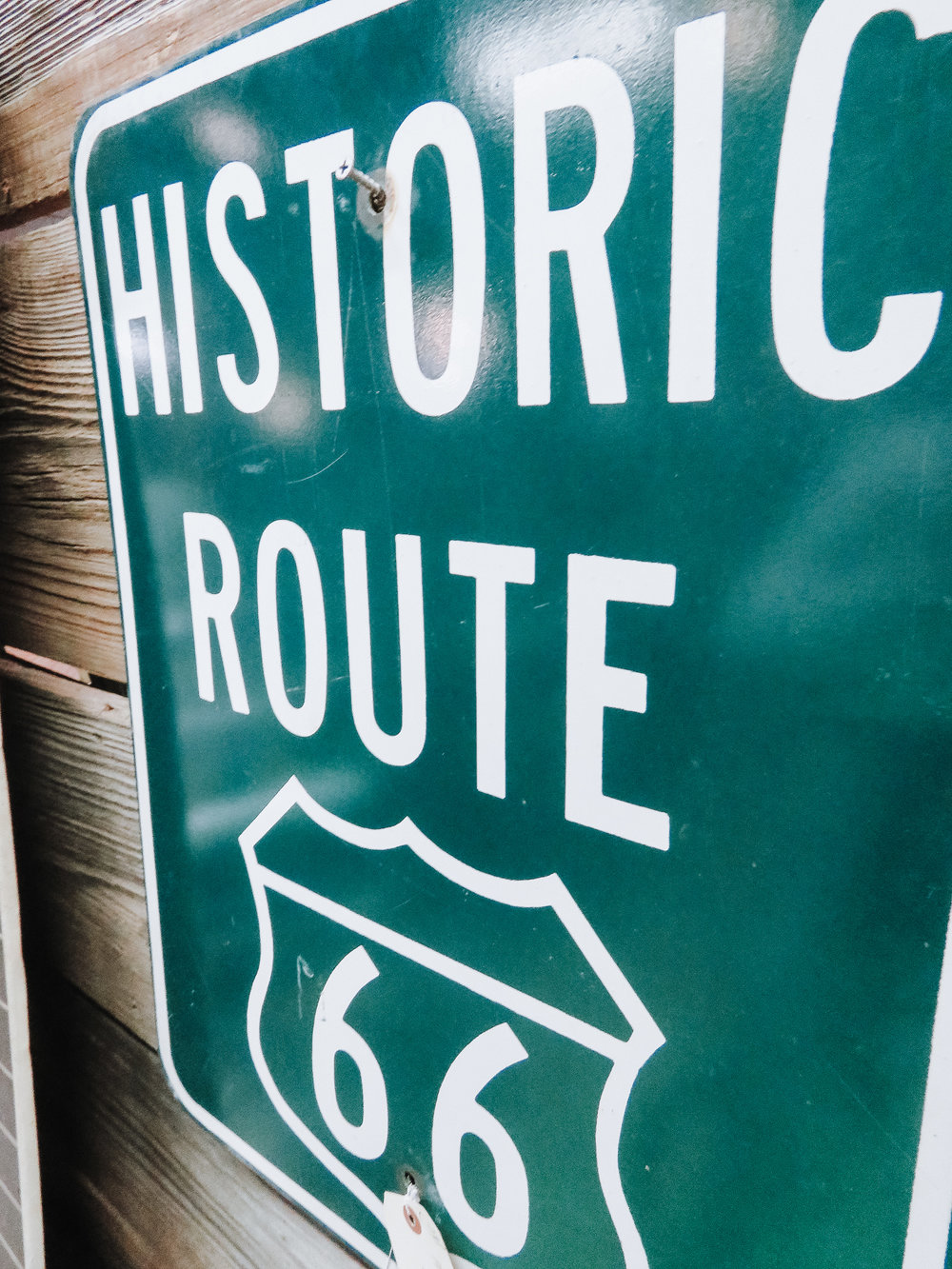 Signage - Route 66 signs are the perfect way to bring a piece of your trip. Signs from local businesses can also make a great new addition!