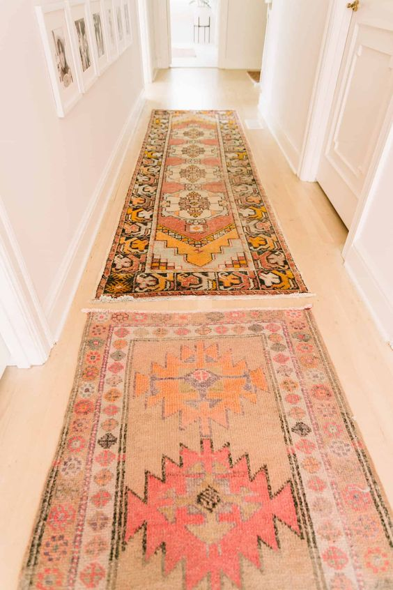 Rugs - Vintage rugs are a great way to brighten up your space. They give your space a fresh new look without having to re-furnish your current space!