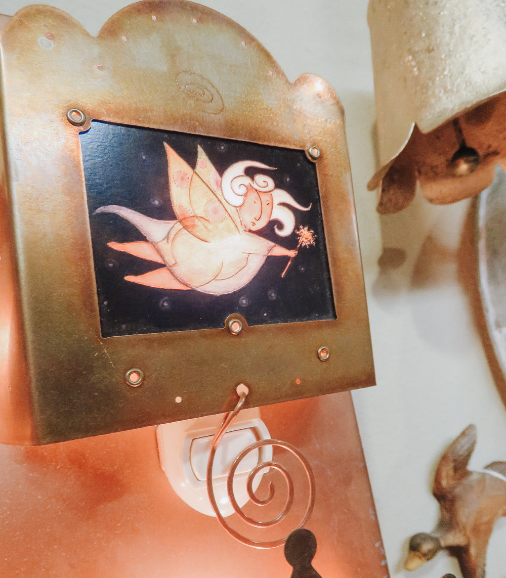 NightLights - A little light goes a long way. Nightlights don't have to be something ugly, and aren't something just for your kids. Handmade + vintage nightlights can be the perfect addition to common areas in your home.