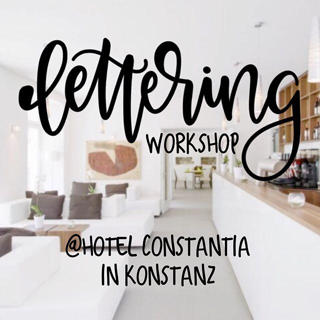 Spontan Lust auf eine kleine, kreative Auszeit? Dann kommt zu unserem Lettering Workshop nach Konstanz, ins wunderschöne Hotel Constantia! Diesen Sonntag, am 14. Oktober 2018. Einfach über unsere Homepage, im Shop anmelden. Wir freuen uns auf euch!! 🖊❤️ #gonecreating #gonecreatingworkshops #kreativeauszeit #lettering #handlettering #brushlettering #fauxcalligraphy #togetherweletter #letterlover #soschön #seiddabei