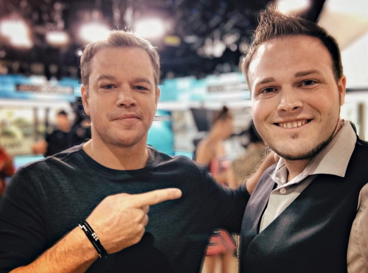 When Matt Damon compliments your graphics — you're doing something right.