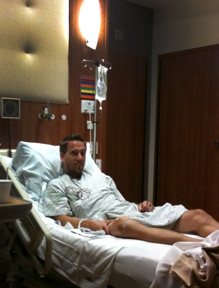 My Blood Clot Story - I tore my meniscus playing soccer with my son Ty in 2011. My doctor assured me I would be back in time to run the Chicago Marathon after a 20 minute surgery. A week later, while standing in the garage with the boys I felt like I had just done a 10 mile workout. I was short of breath, my heart was racing and I was sweating. Sue, my wife rushed home from the ER and took me in.As it turns out my lungs and calf were full of blood clots. 1 in 3 people die from blood clots in their lungs. That's 1 person every 6 minutes in the US.I was one of the lucky ones that survived.