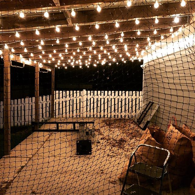 Might have to make a change to the lighting here before finishing the batting cage.
