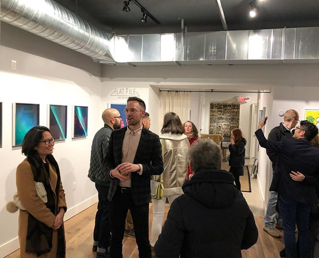 Thanks 🙏 to everyone who made it to the opening! So happy to have these works/artists in our program. 2 Solos:  Tommy Kwak & Arjan Zazueta is up through Nov-Dec. 💜 #flatfileart @tommykwak @arjanzazueta #contemporaryart #visualart #montclairnj #photography #painting #collage #artcollector #buyart #artonpaper