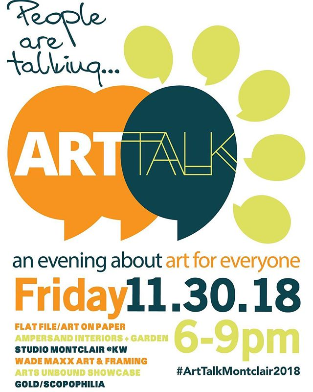 Come join us for an evening stroll and art! ArtTalkMontclair.com  Arjan Zazueta will discuss the impact of working with galleries and connecting with buyers. 😁 #arttalkmontclair2018 #flatfileart #artcollector #montclairnj