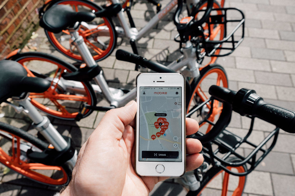 MoneyLens' Andrew Lacey uses Mobike