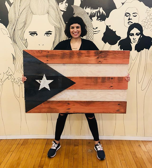 Thank you to all of our donors and clients for helping raise of 1k for http://www.unidosporpuertorico.com/about-us  #unitedforpuertorico  #220strong.  Flag was made by @moehamster  if anyone wants to buy it the donation will go towards Puerto Rico!