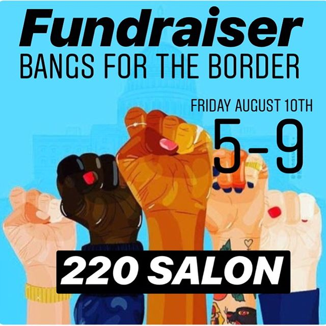 On Friday, August 10th, from 5-9, we're coming together at 220 Salon to cut bangs and to raise money. All proceeds will be donated to @innovationlawlab If bangs aren't for you, stop by and say Hi! Have some wine. Make a donation❤️Thank you @jayne_edosalon for the inspiration! #220salon #220strong