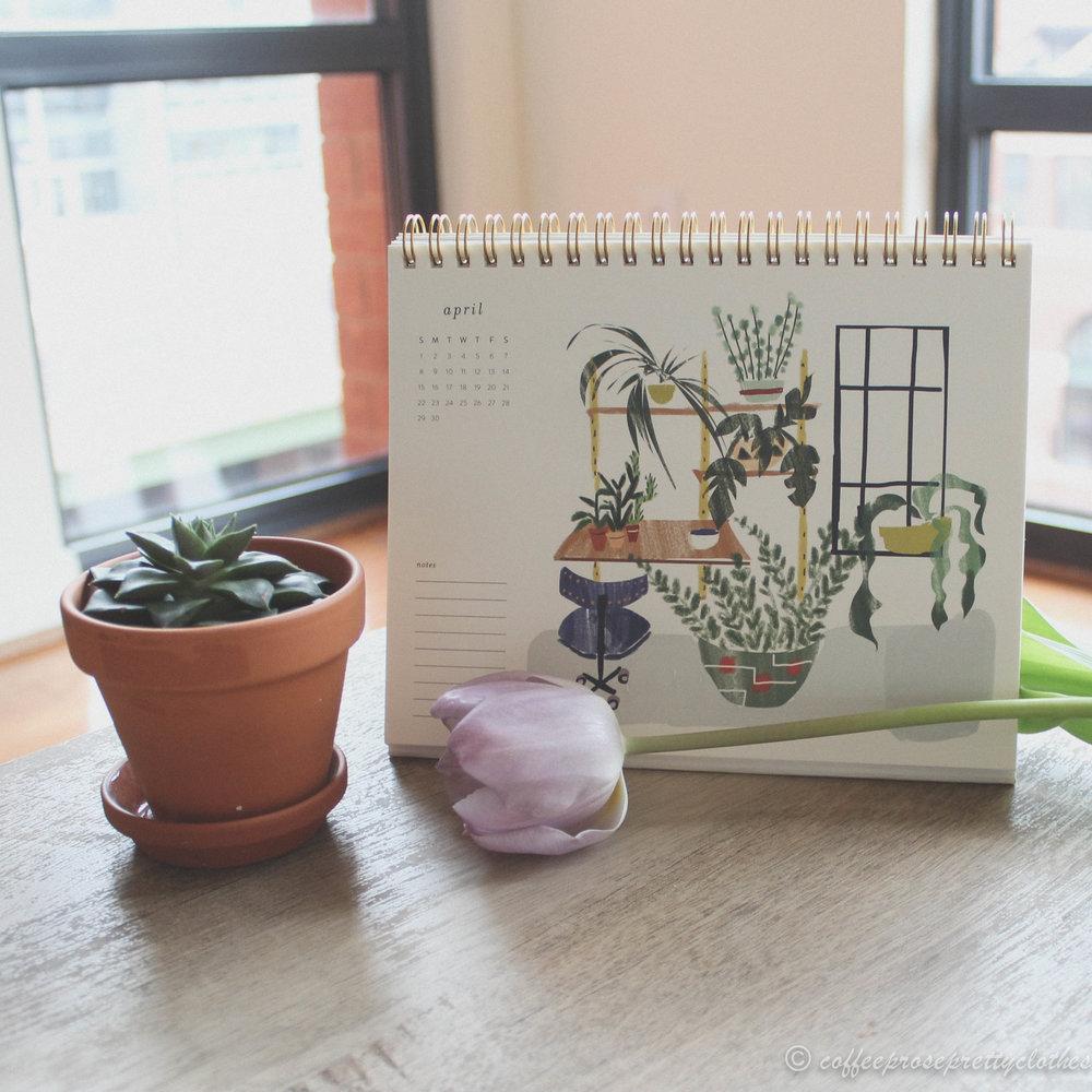 April Bucket List with Petite Places desk calendar by Ferme à Papier