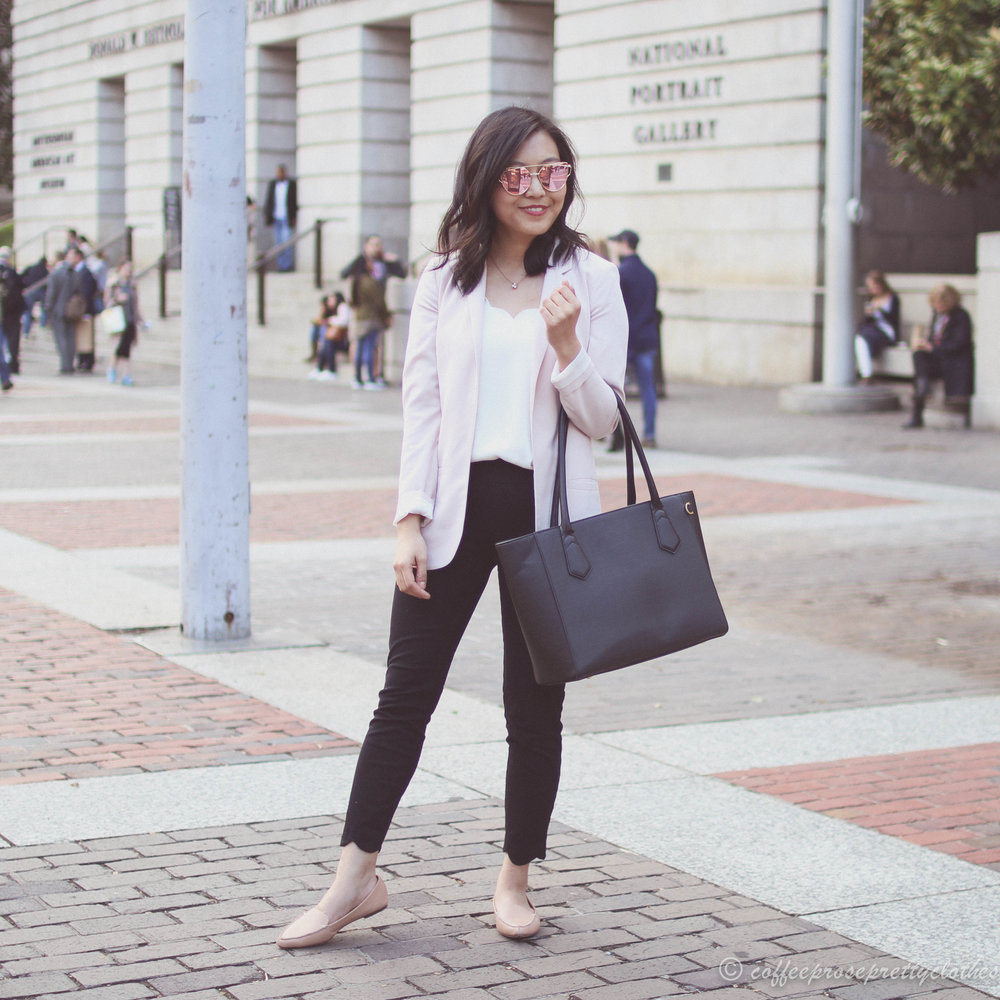 Waiting for Godot | Blush Blazer and Scalloped Pants