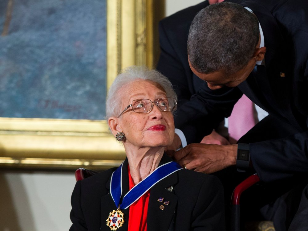 Last year, President Obama gave Johnson the Presidential Medal of Freedom, the most prestigious honor available to civilians. Credit: Evan Vucci/AP