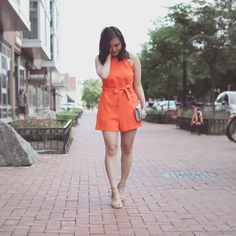 Scalloped Romper and Neutral Accents