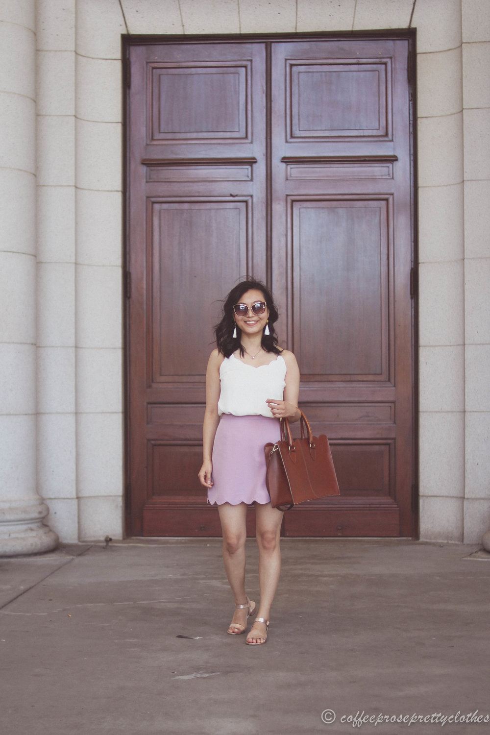 Scalloped Cami and Scalloped Skirt
