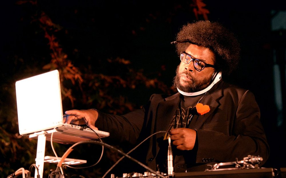 QuestLove spins his heart out. From Ebony Magazine.
