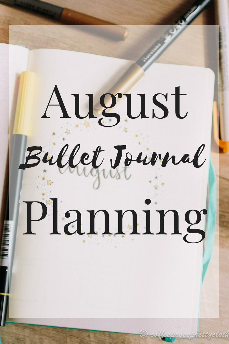 August Bullet Journal Planning