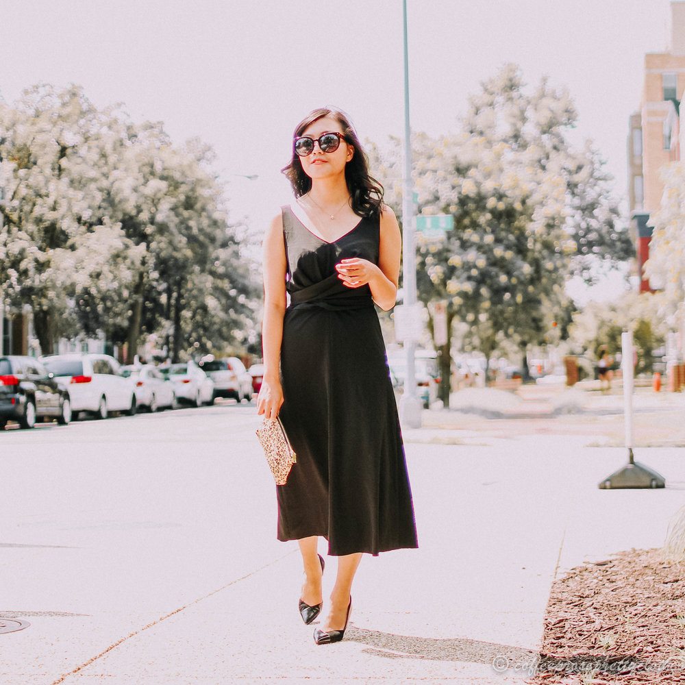 Little Black Dress and Leopard Clutch