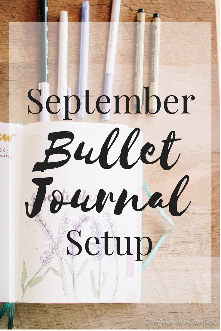 September Bullet Journal Spreads Lavender Theme