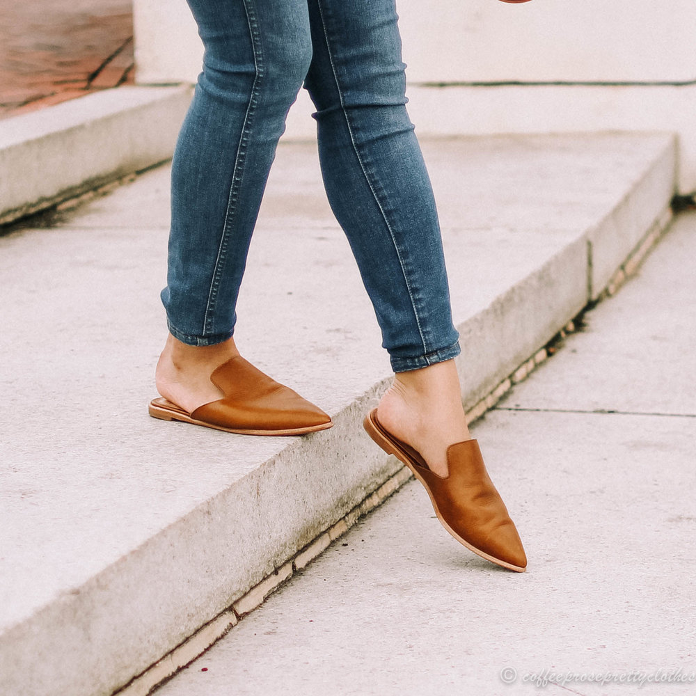 Rayon Blouse and Pointed Mules
