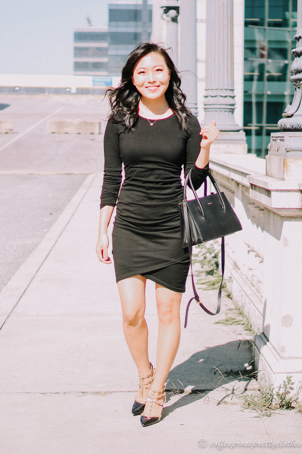 Leith ruched Dress and Angela Roi Eleanor Bag