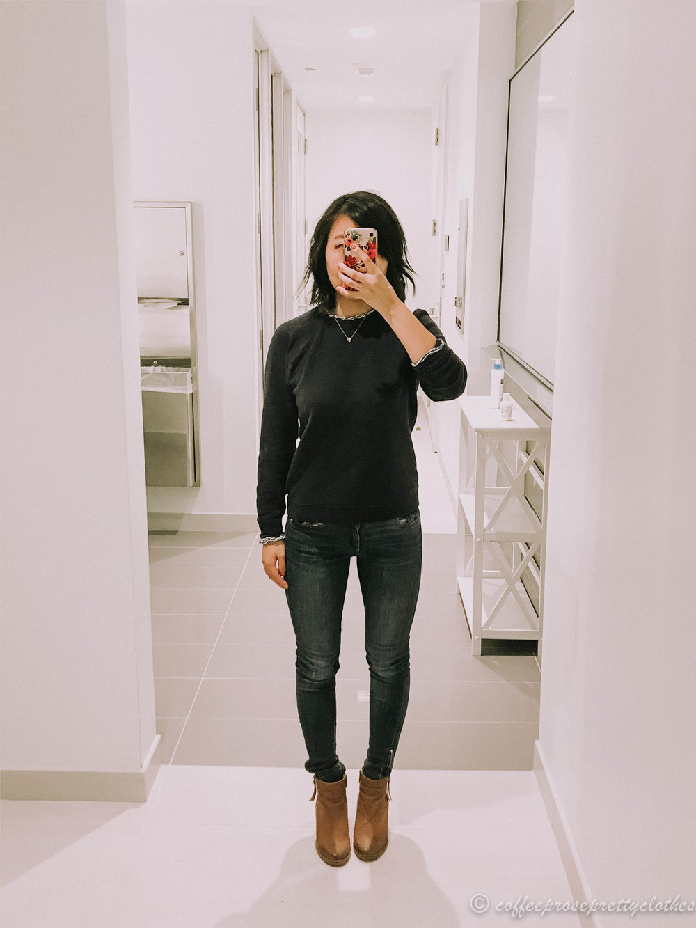J.Crew Factory sweater and Blondo booties