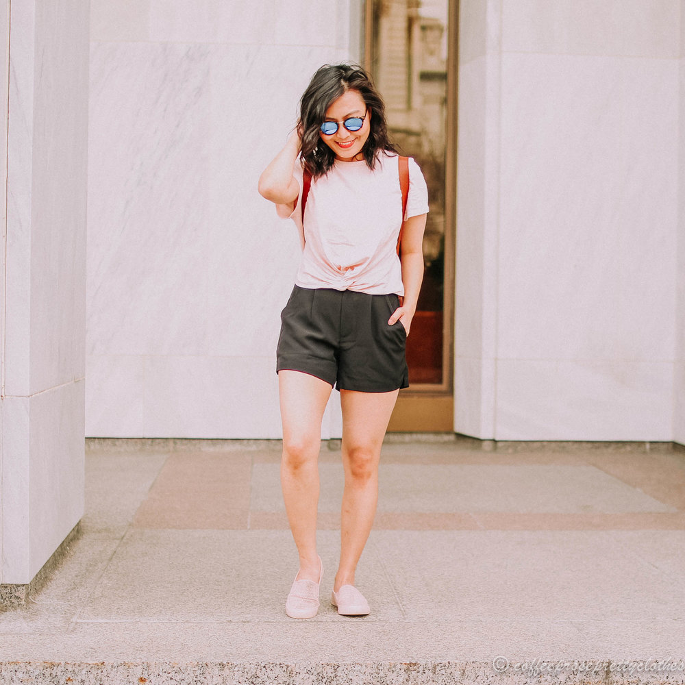 Blush Crop Top and High Waisted Shorts