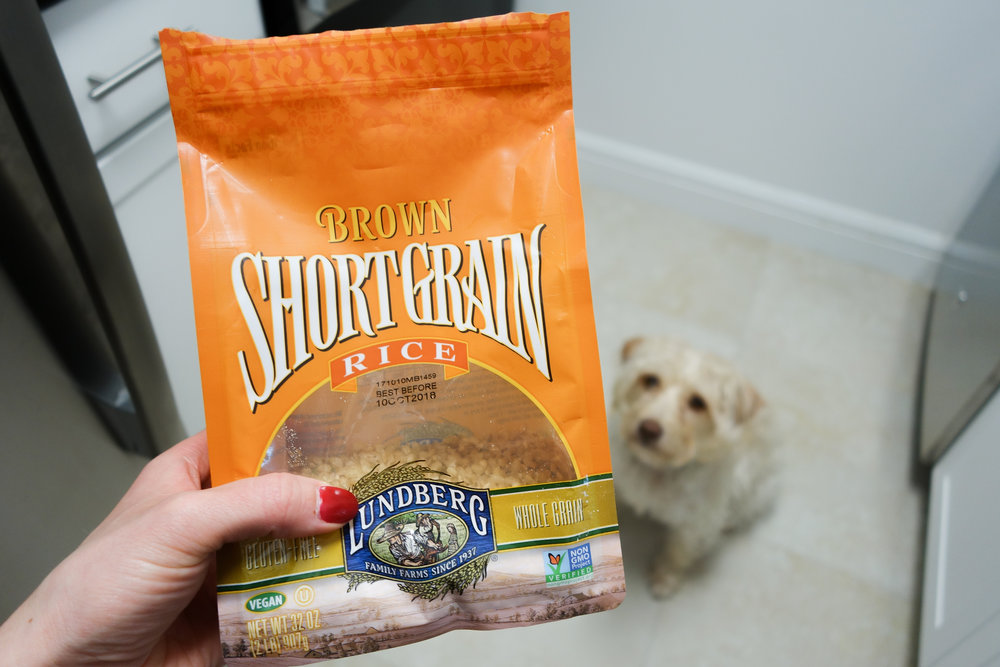 Lundberg Short Grain Brown Rice - Short grain brown rice is the best for baking in the oven. Long grain rice always goes a little mushy on me.